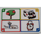 LEGO Creationary Game Card with Apple Tree
