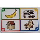 LEGO Creationary Game Card with Banana