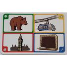 LEGO Creationary Game Card with Bear