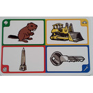 LEGO Creationary Game Card with Beaver