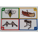 LEGO Creationary Game Card with Bee