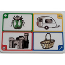 LEGO Creationary Game Card with Beetle