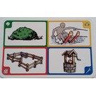 LEGO Creationary Game Card with Bush