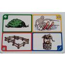 LEGO Creationary Game Card with Bush