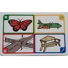LEGO Creationary Game Card with Butterfly