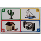 LEGO Creationary Game Card with Cactus