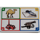 LEGO Creationary Game Card with Camel