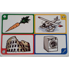 LEGO Creationary Game Card with Carrot