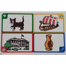 LEGO Creationary Game Card with Cat