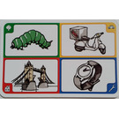LEGO Creationary Game Card with Caterpillar