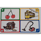 LEGO Creationary Game Card with Cherries