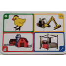 LEGO Creationary Game Card with Chick