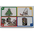 LEGO Creationary Game Card with Christmas Tree