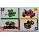 LEGO Creationary Game Card with Clover