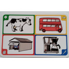 LEGO Creationary Game Card with Cow