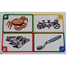 LEGO Creationary Game Card with Crab