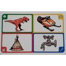 LEGO Creationary Game Card with Dinosaur