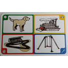 LEGO Creationary Game Card with Dog