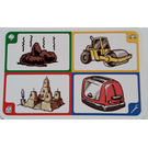 LEGO Creationary Game Card with Dog Mess