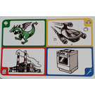 LEGO Creationary Game Card with Dragon