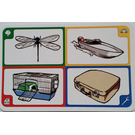 LEGO Creationary Game Card with Dragonfly