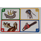 LEGO Creationary Game Card with Electric Eel