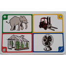 LEGO Creationary Game Card with Elephant
