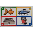 LEGO Creationary Game Card with Fish