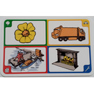 LEGO Creationary Game Card with Flower