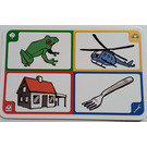 LEGO Creationary Game Card with Frog