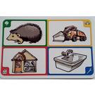 LEGO Creationary Game Card with Hedgehog