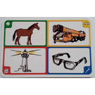 LEGO Creationary Game Card with Horse