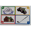 LEGO Creationary Game Card with Iceberg