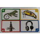 LEGO Creationary Game Card with Iguana