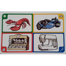 LEGO Creationary Game Card with Lobster