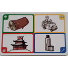 LEGO Creationary Game Card with Log