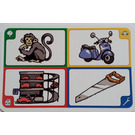 LEGO Creationary Game Card with Monkey