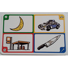 LEGO Creationary Game Card with Moon