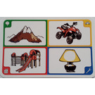 LEGO Creationary Game Card with Mountain
