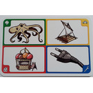 LEGO Creationary Game Card with Octopus