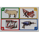 LEGO Creationary Game Card with Pig
