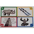 LEGO Creationary Game Card with Rhinoceros