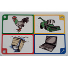LEGO Creationary Game Card with Rooster