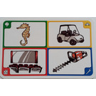 LEGO Creationary Game Card with Seahorse