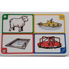 LEGO Creationary Game Card with Sheep