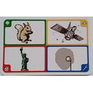 LEGO Creationary Game Card with Squirrel