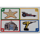 LEGO Creationary Game Card with Starfish