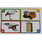 LEGO Creationary Game Card with Stork
