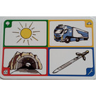 LEGO Creationary Game Card with Sun
