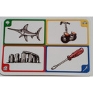 LEGO Creationary Game Card with Swordfish